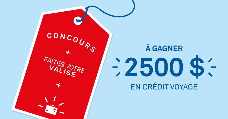 À GAGNER : 2500$ en crédit voyage grâce à CAA Québec