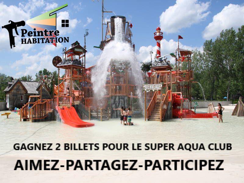 Gagner deux billets pour le super aqua club de Pointe-Calumet