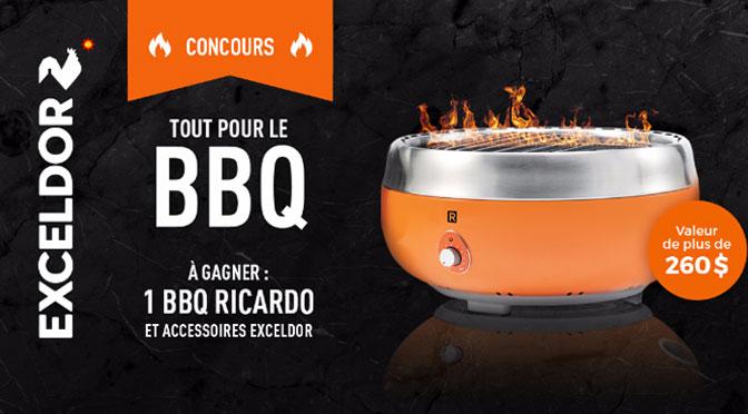 CONCOURS TOUT POUR LE BBQ EXCELDOR ! GAGNEZ UN BBQ RICARDO