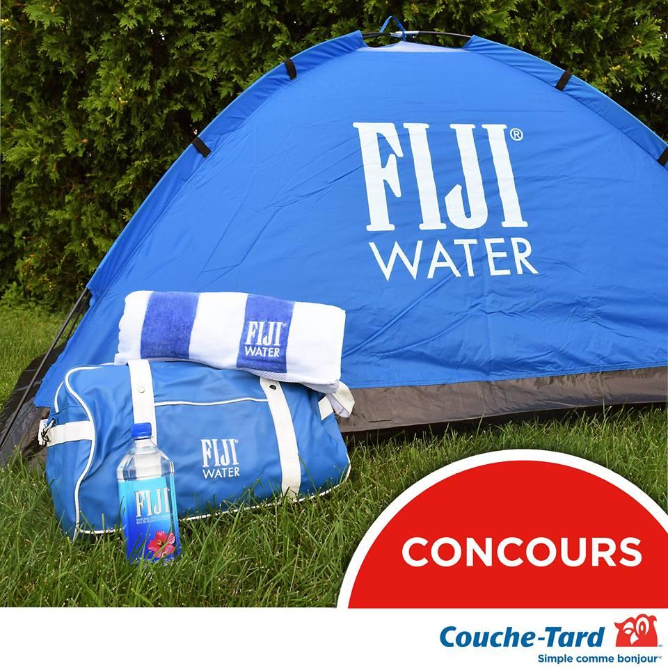 Concours - Gagner une tente, un sac de sport et une serviette de plage FIJI Water
