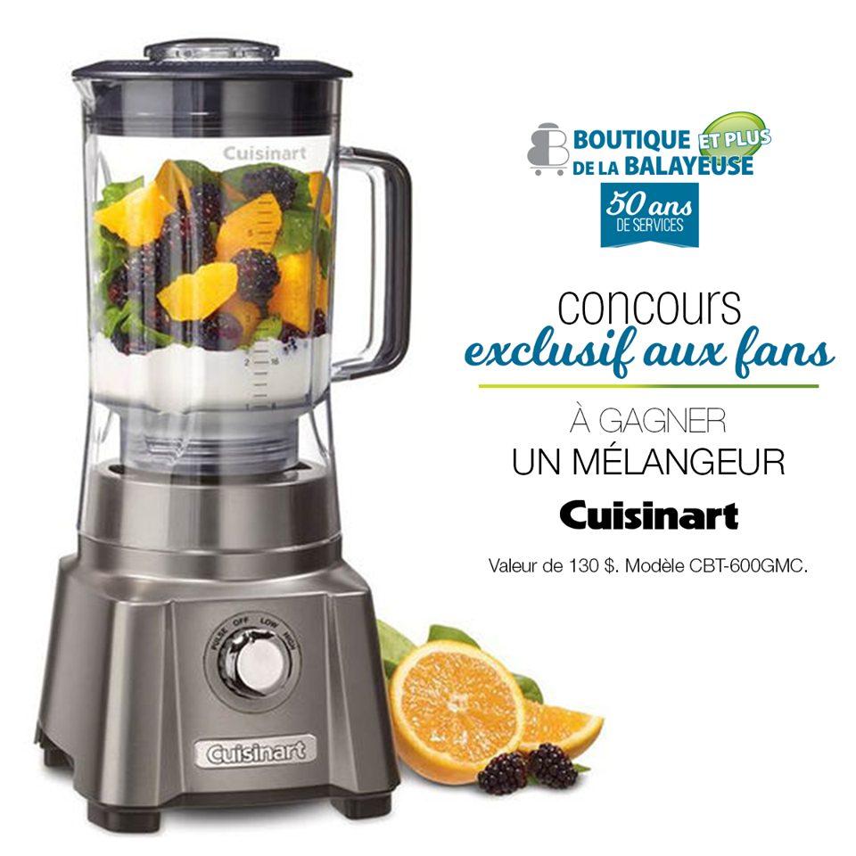 Concours – Gagnez Un mélangeur Cuisinart d'une valeur de 130$