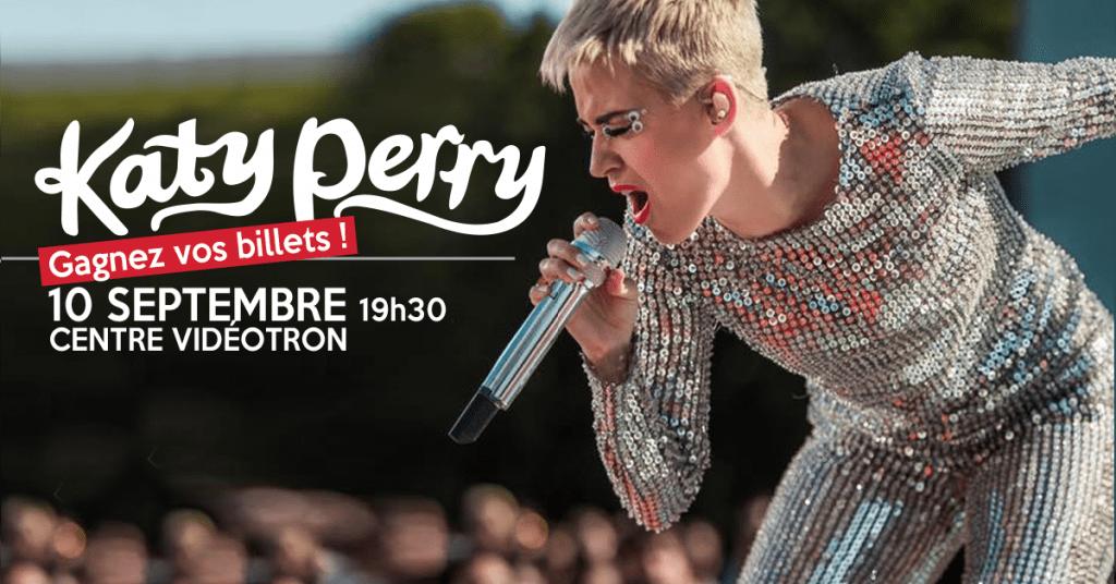 Concours - Gagner Une paire de billets pour le Spectacle de Katy Perry