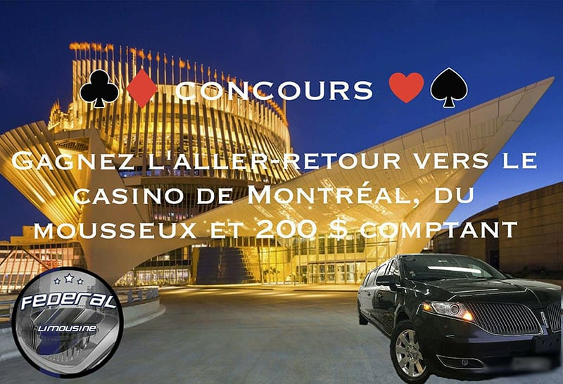 Concours – Gagnez un aller-retour vers le Casino de Montréal et 200 $ d'argent comptant pour le casino