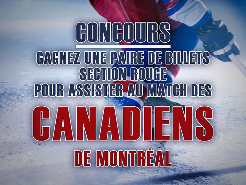 Concours - Gagner des billets pour aller voir un match des Canadiens de Montréal le 14 octobre 2017