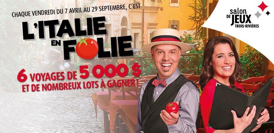 Concours - Gagner un voyage en italie d'une valeur de 5 000 $ !