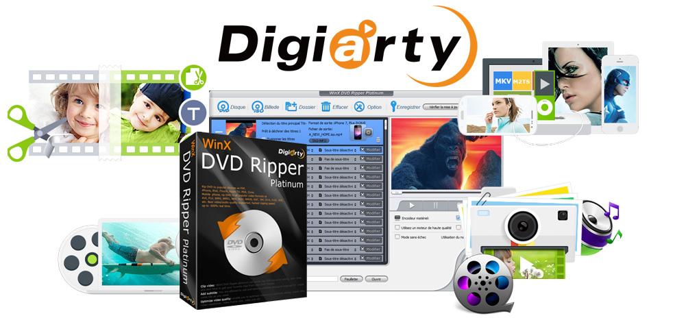 Concours - Gagner une licence du logiciel WinX DVD Ripper Platinum