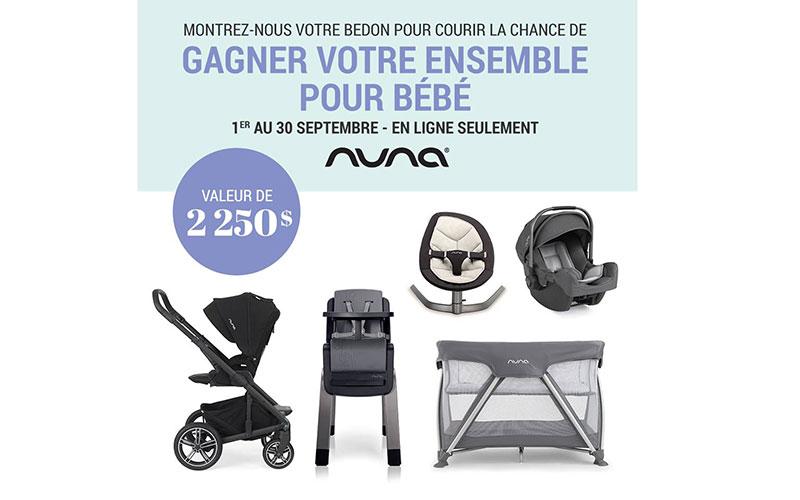 Concours - Gagner un ensemble pour bébé Nuna Canada de 2 250$