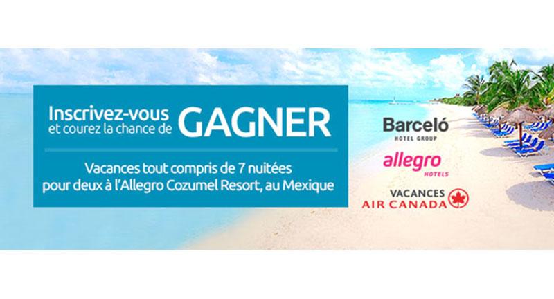 Concours - Gagner des vacances pour 2 à l'hôtel Allegro Cozumel à Cozumel, au Mexique