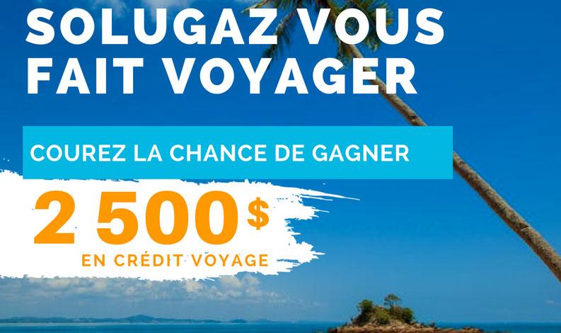 Gagner un crédit voyage de 2 500,00$ de Voyage Vasco!