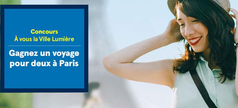 Gagner un voyage pour deux personnes à Paris, vol et l'hébergement