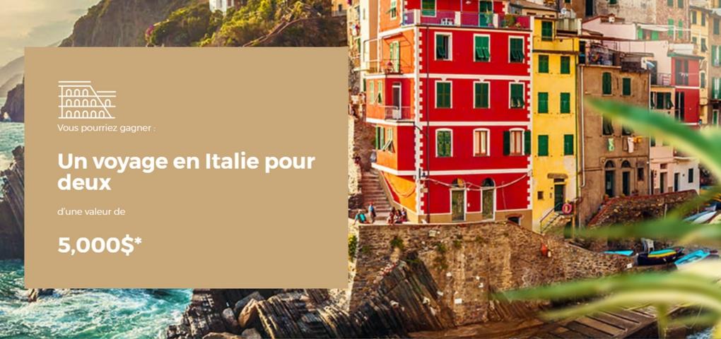 image du concours voyage en Italie organiser par peinture MF