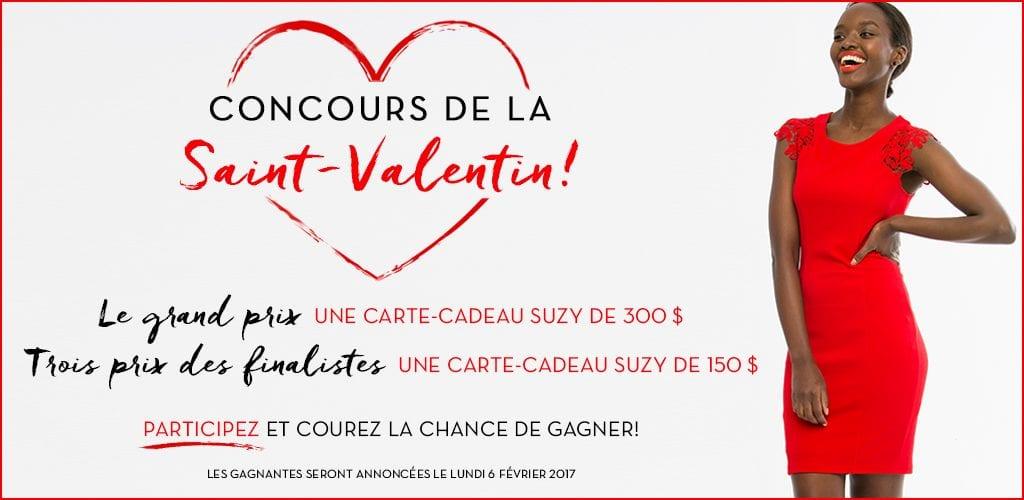 Gagner une carte cadeau Suzy Shier (Valeur de 300$) concours Quebec gratuit!