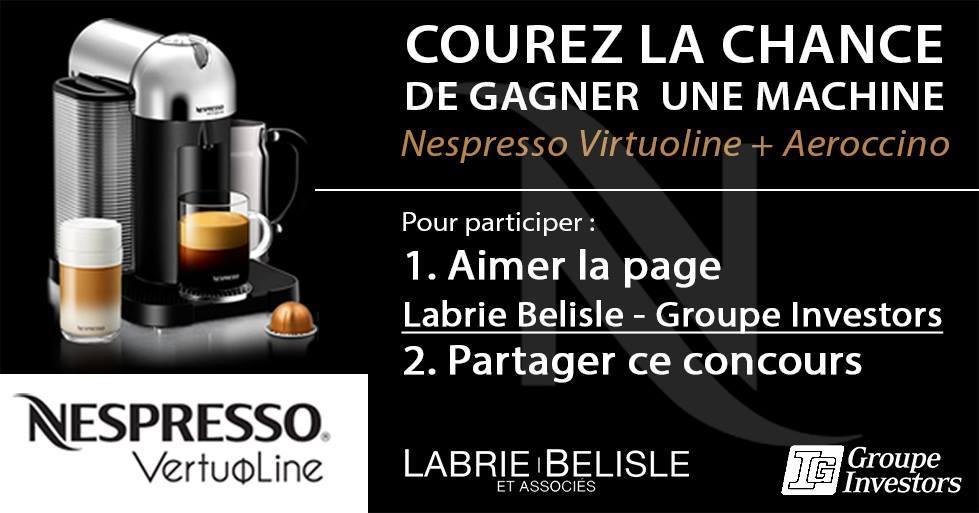 Concours | GAGNER une machine Nespresso Virtuoline + Aeroccino