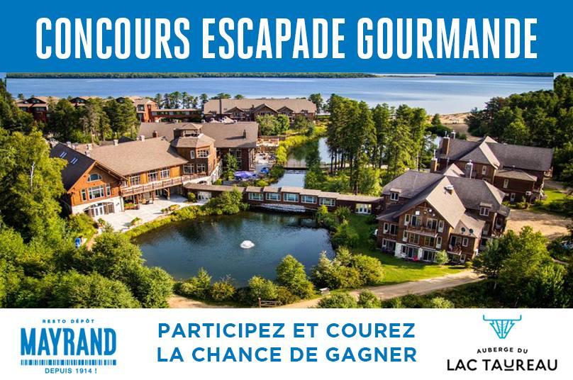 Concours - GAGNER une escapade gourmande à l'Auberge du Lac Taureau d'une valeur de 600$