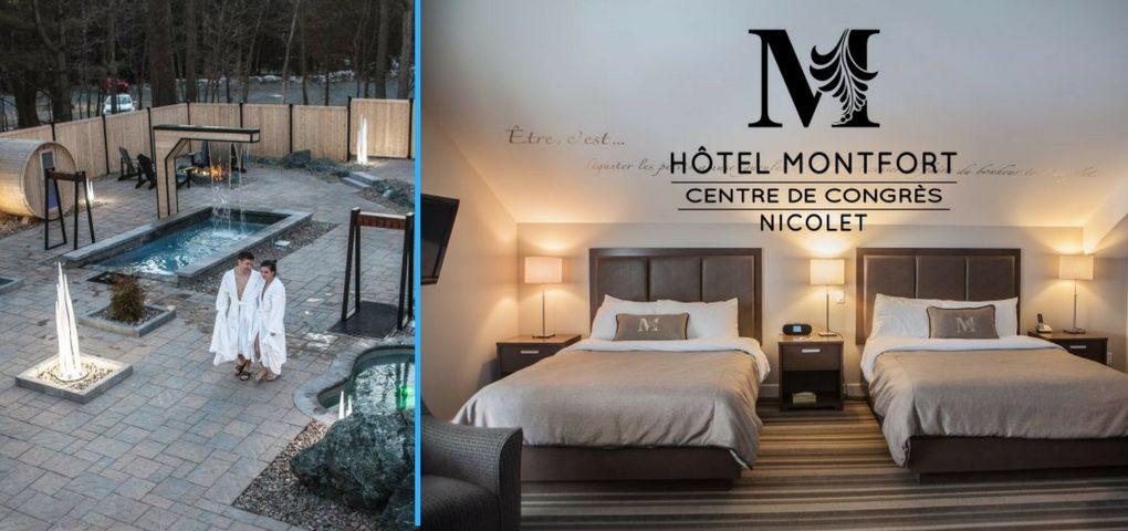 Concours | Gagner une escapade de rêve incluant nuitée et Spa au Hôtel Montfort Nicolet (valeur 900$)