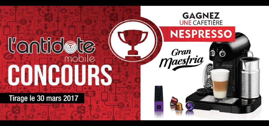 Concours Web au Québec - Gagner une cafetière Nespresso Maestria