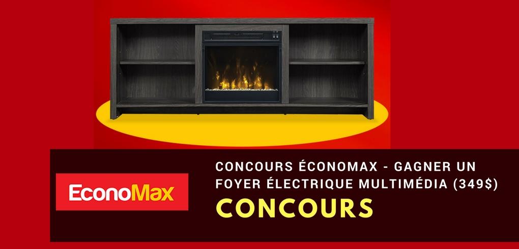 Concours Économax - Gagner un Foyer électrique multimédia (Valeur de 349$)