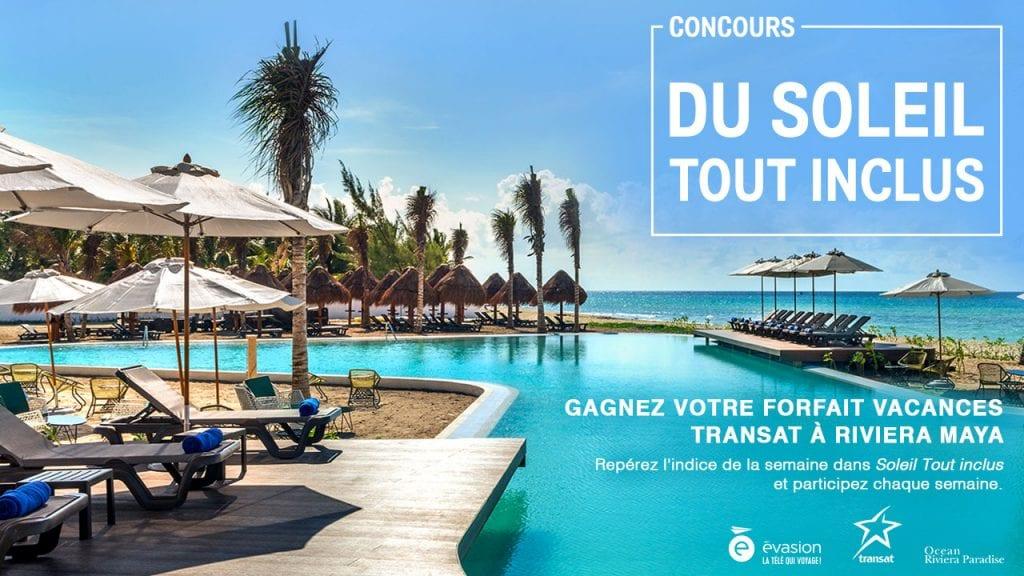 Concours Évasion Transat - Gagner un forfait vacances pour deux personnes au Mexique (Valeur de 5000$)