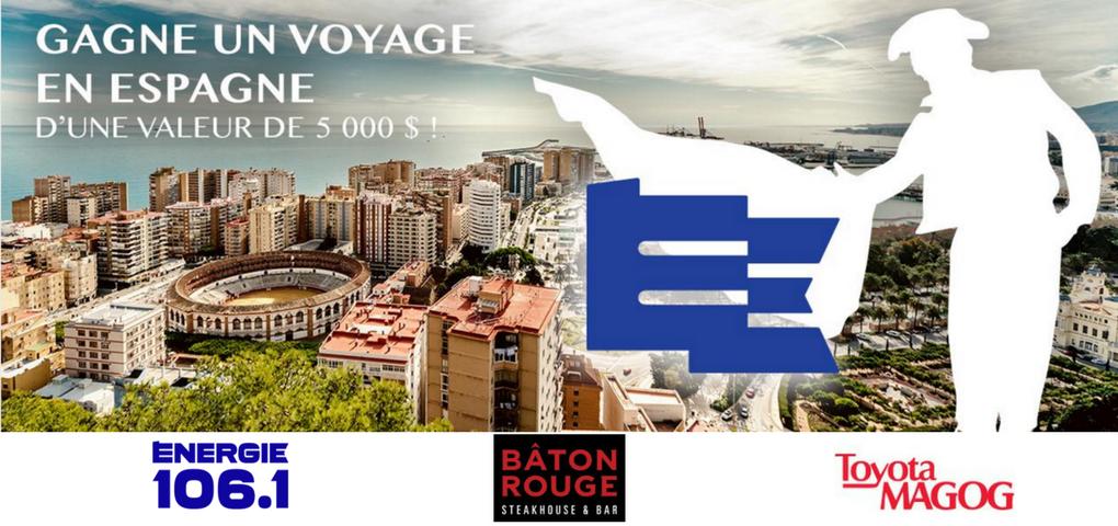 Concours Gagner un voyage en Espagne offert par Bâton Rouge et Toyota Magog (Valeur de 5 000$)
