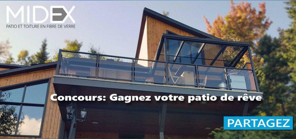 Concours Gagner votre patio de rêve avec Midex (valeur de 1500$)