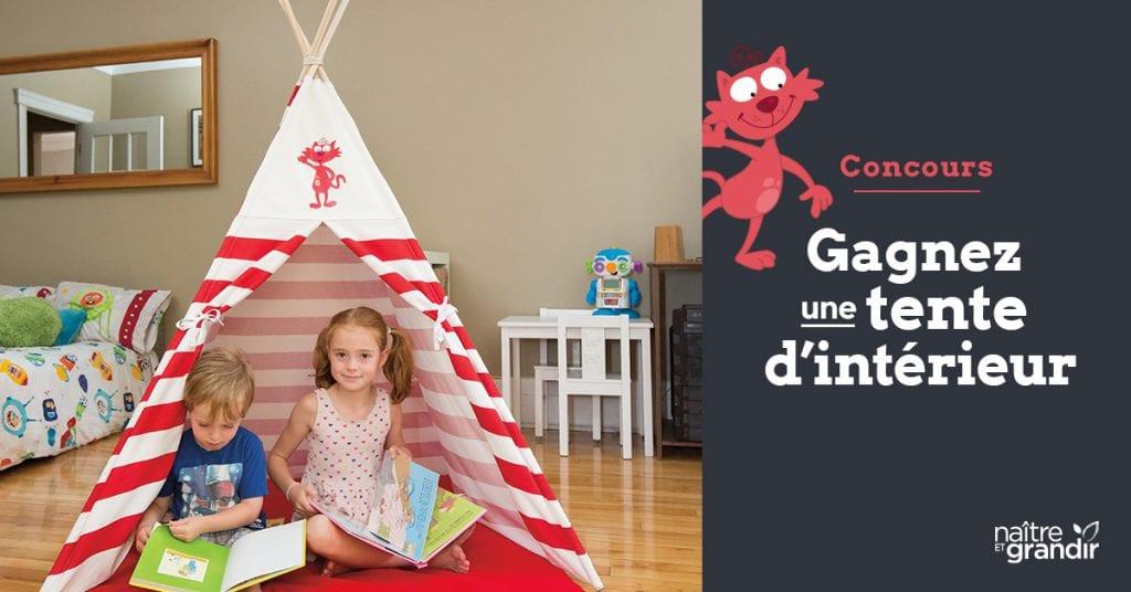 Concours Naître et Grandir - Gagnez une tente d'intérieur pour enfant Chaminou!