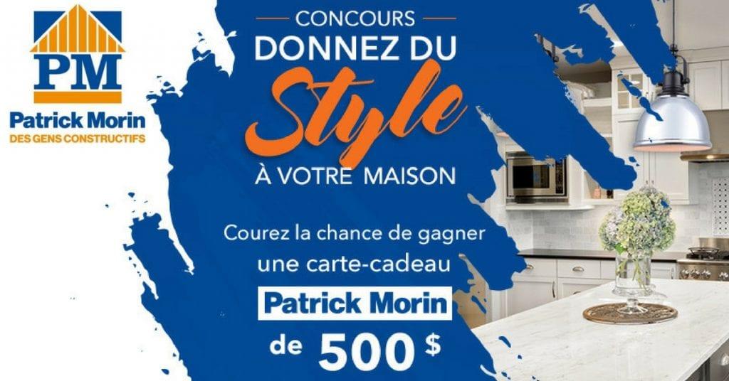 Concours Publi Sac - Gagner une carte-cadeau Patrick Morin de 500$