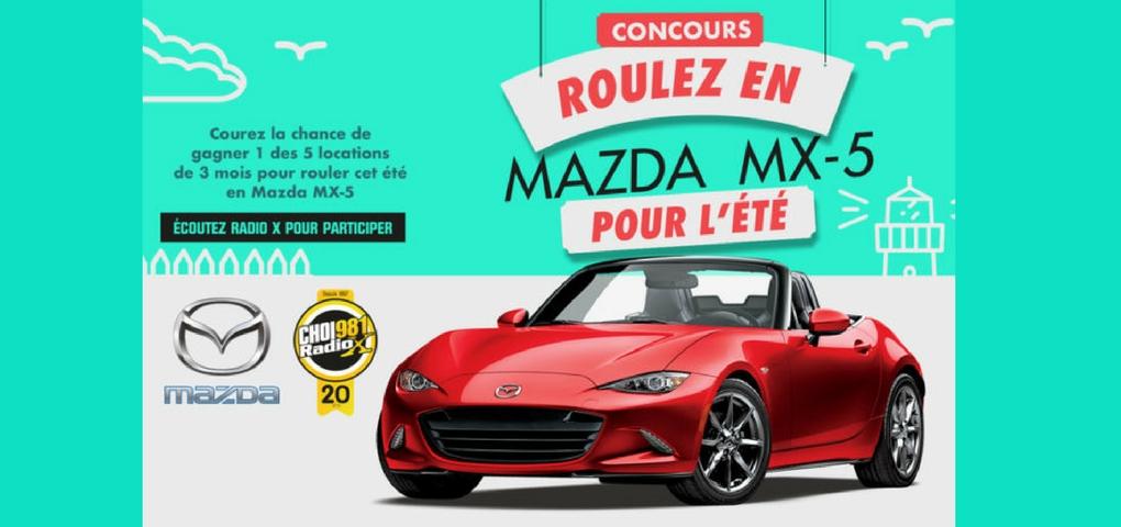 Concours Roulez en Mazda MX-5 pour l'été!
