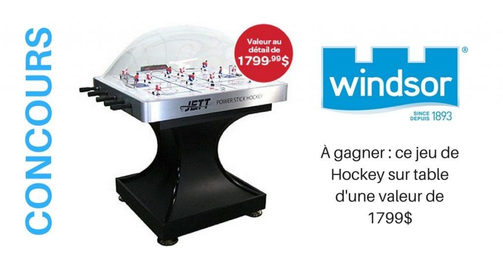 Concours Sel Windsor Gagner ce jeu de Hockey sur table d'une valeur de 1799$
