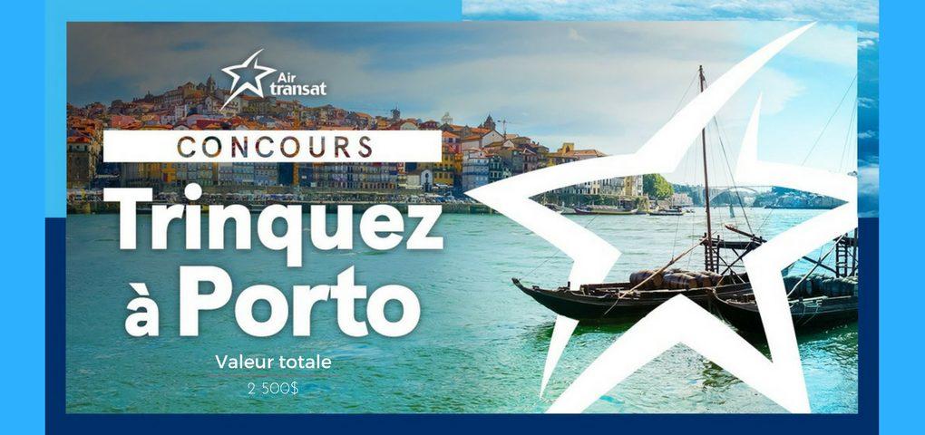Concours Suivez la route des vins de Porto avec Aire Transat (valeur de 2500$)