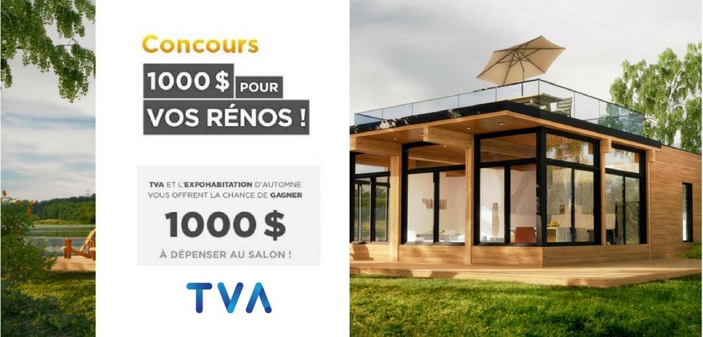 Concours TVA - GAGNE R1000$ POUR VOS RÉNOS!