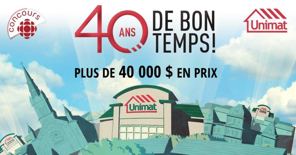 Concours Unimat Gagnez plus de 40000$ au Québec