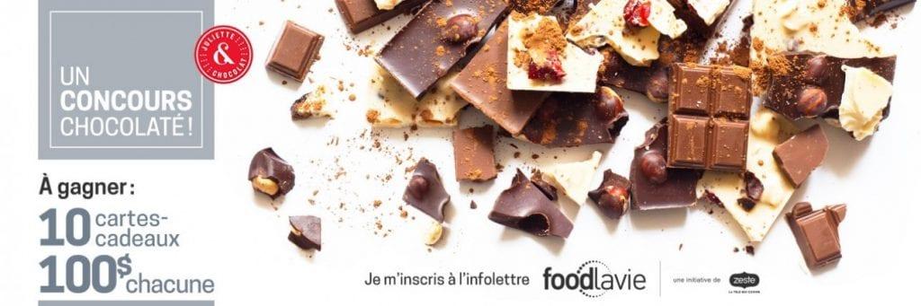 Concours Zeste Télé - Gagner l'une des 10 cartes-cadeaux d'une valeur de 100$ au Juliette et Chocolat!