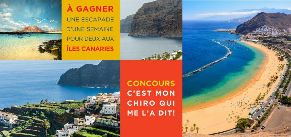 Concours gagner une escapade pour deux au îles Canaries