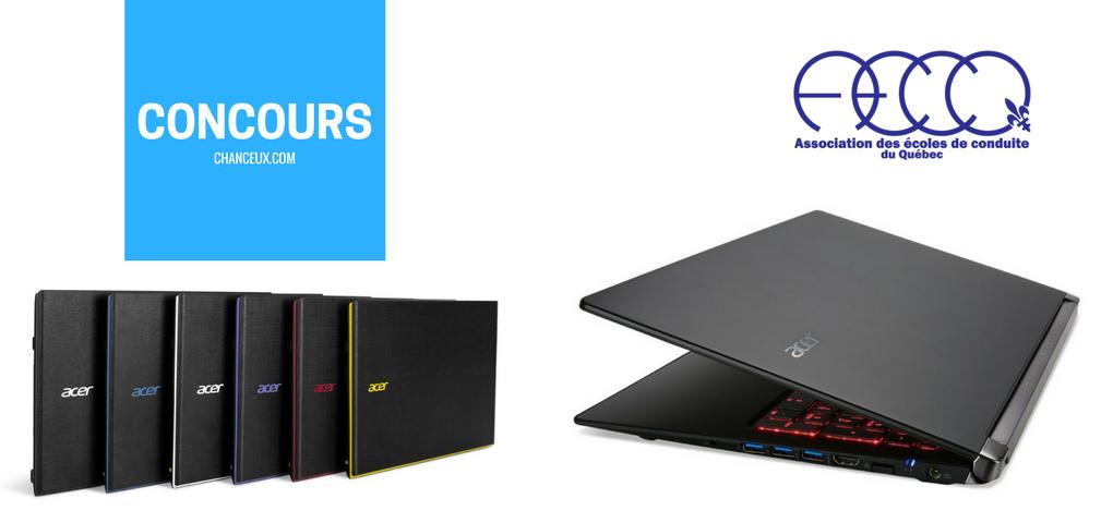 Gagner un ordinateur portable Acer aspire E15 grâce à l'A.E.C.Q