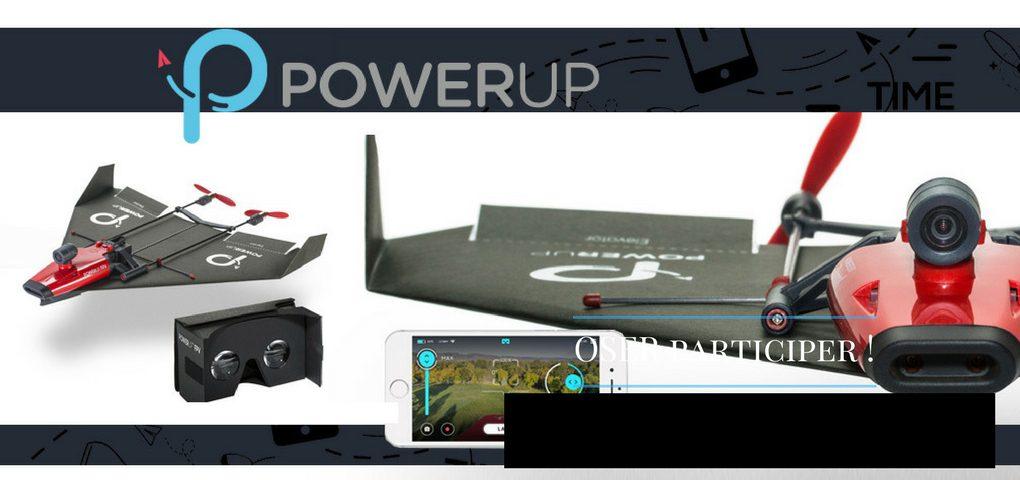Concours François Charron : Gagner un drone Powerup d'une valeur de 260$