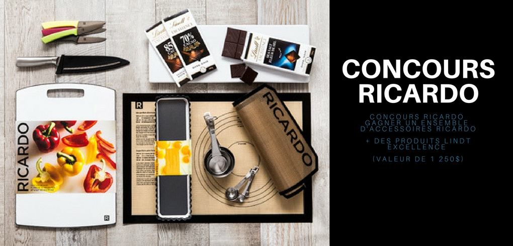 Gagner un ensemble d'accessoires RICARDO + des produits Lindt Excellence