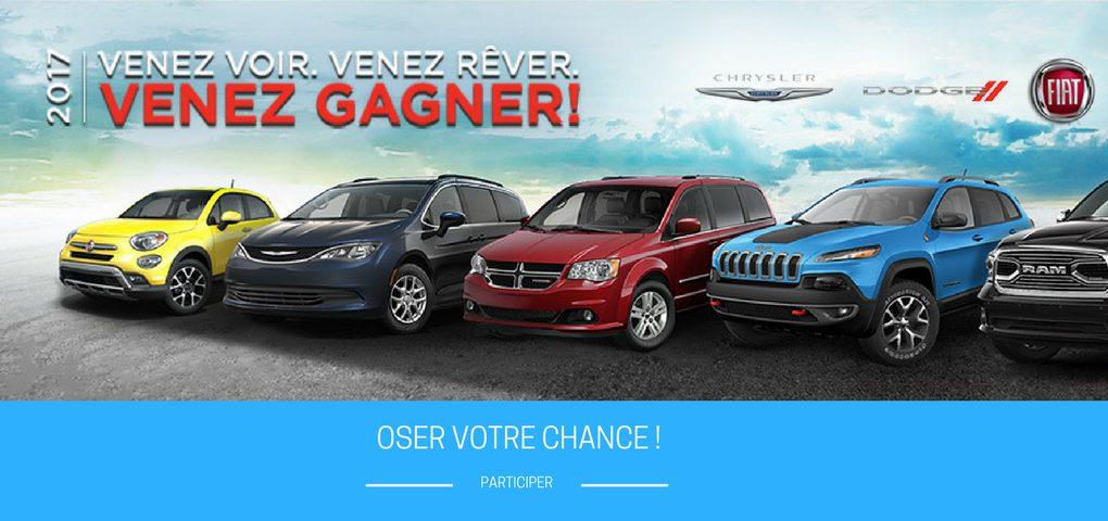 Concours gagner le véhicule Chrysler, Dodge, Jeep de votre choix !