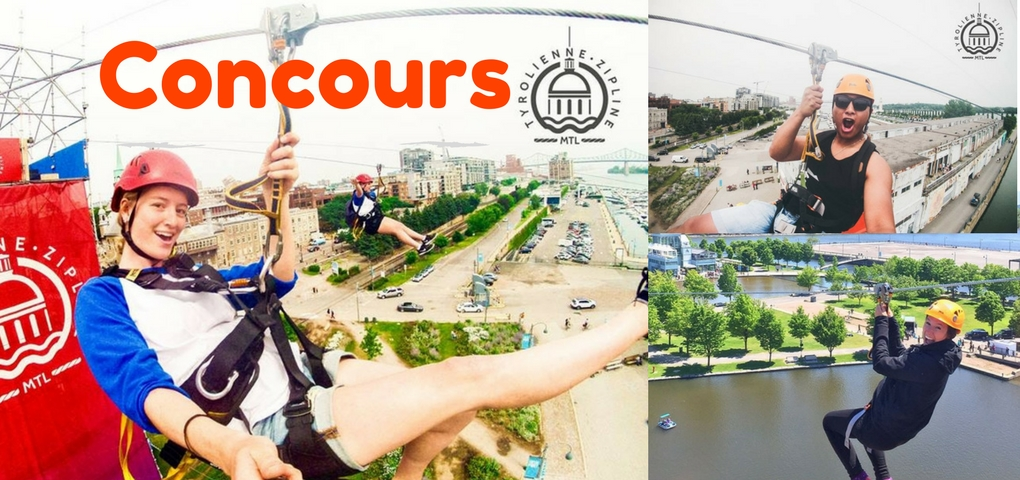 image concours trajet en Tyrolienne ou Quick Jump Montréal format facebook