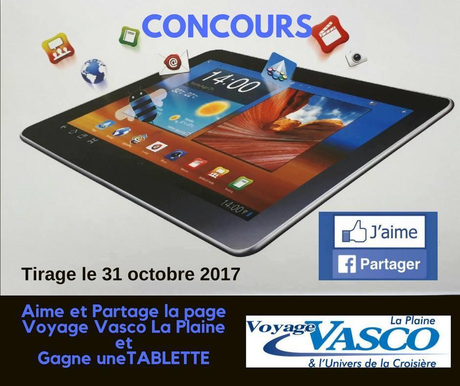 Gagnez une Tablette numérique offert par Vasco La Plaine