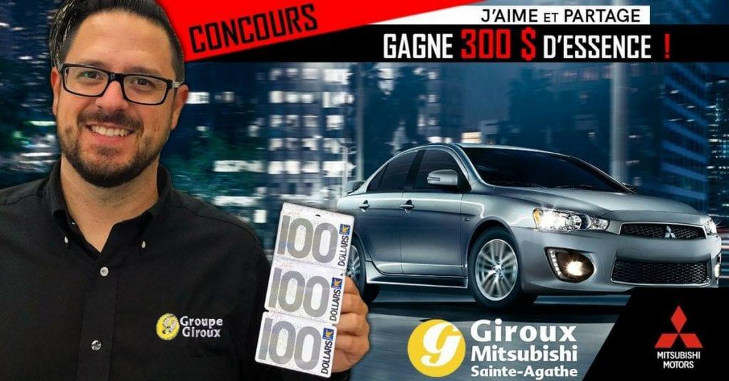 Image Concours Giroux Mitsubishi Gagnez 300$ d'essence!