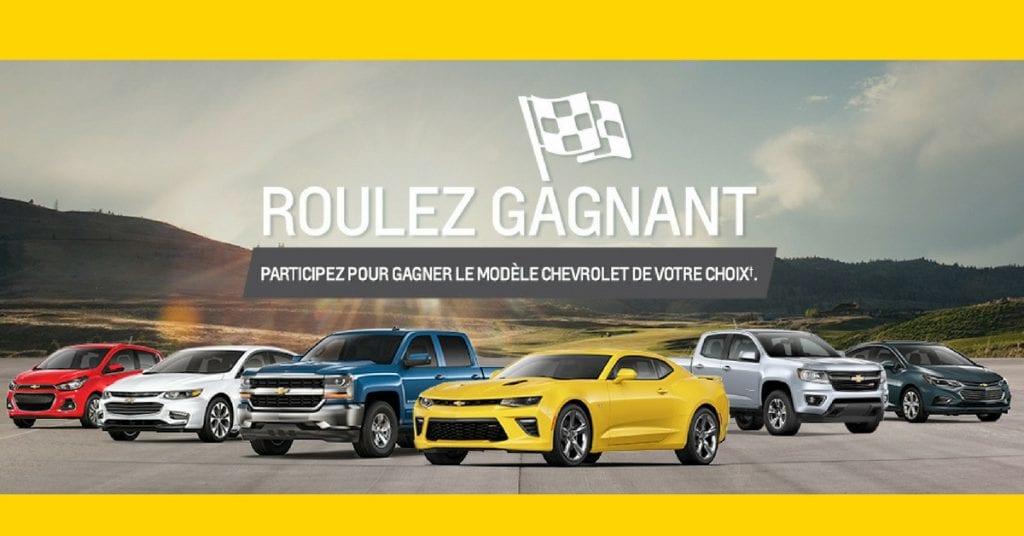 Image concours d'une voiture Chevrolet de votre choix!