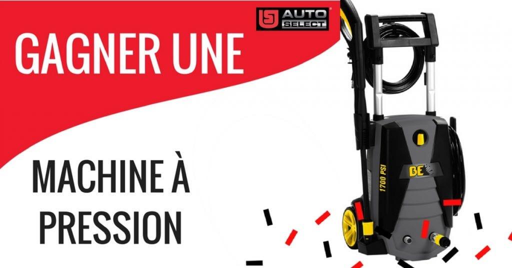 Image d'un concours web de machine à pression offert part Auto-Select !