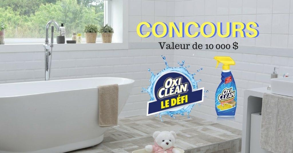 Concours Oxi Clean : Gagner une métamorphose de votre salle de lavage d'une VALEUR DE 10000$.