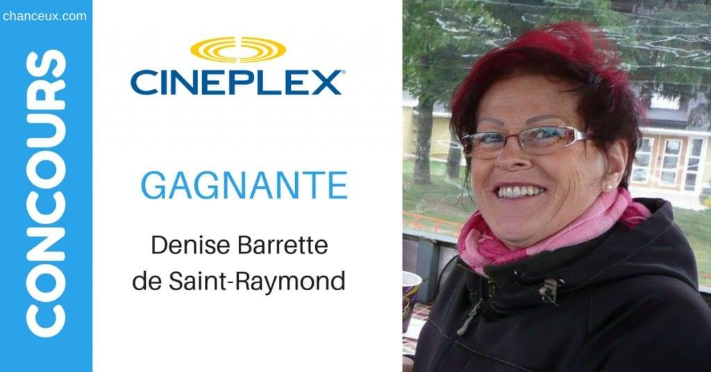 Image Denise Barrette Gagnante du concours organiser par Palam.ca