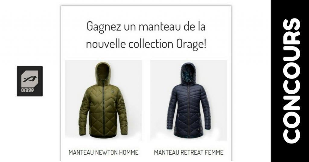 Image d'un manteau de la nouvelle collection Orage!