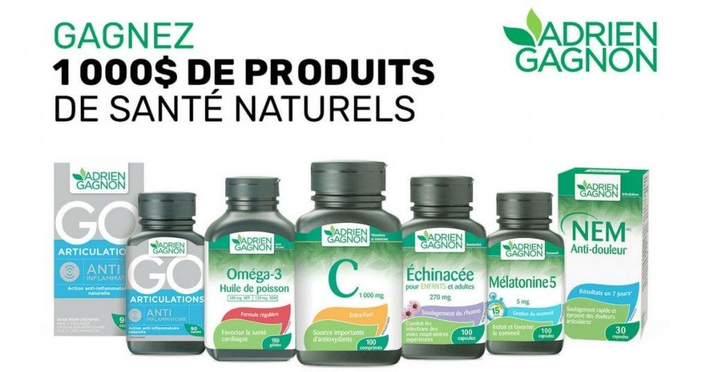 Image concours produits de santé naturels Adrien Gagnon