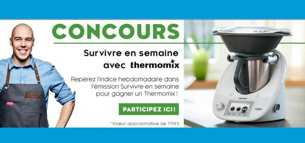 Zeste vous offre la chance de gagner un Thermomix (valeur de 1799$)