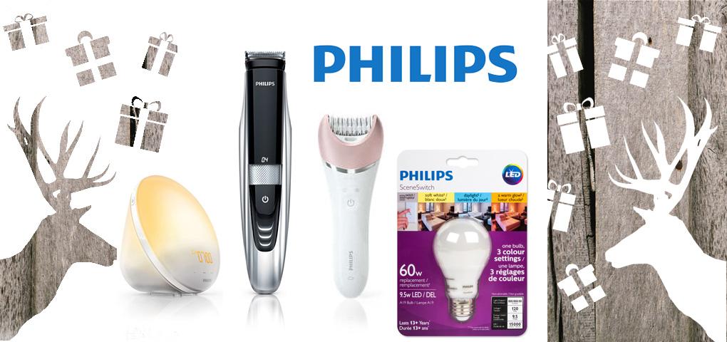 Gagnez un ensemble-cadeau Philips incluant une lampe-réveil