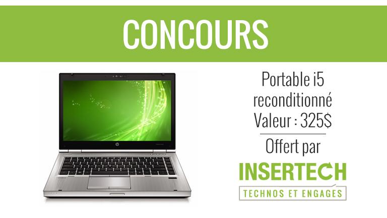 Concours | Gagnez un ordinateur portable i5 HP 8460p de chez Insertech