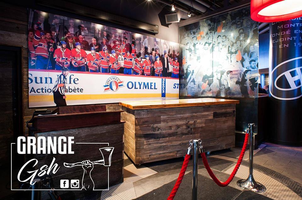 image comptoir bar réalisation bois de grange murale